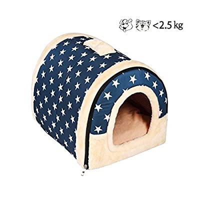 Enko Luxury Cozy 2-in-1 Pet House and Sofa, High Quality Indoor Portable Foldable Dog Room / Cat Bed. Prepare a Warm House for Your Pet. from Enko