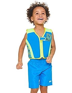 Zoggs Niños - Chaqueta para Nadar en mar Profundo, Niños, Deep Sea Swim Jacket, Blue/Multi-Colour, 2-3 años