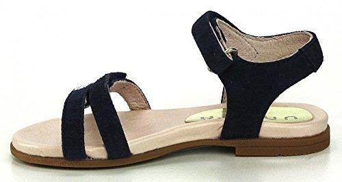 Unisa lysi sandales strass pour fille bleu marine fermeture velcro Bleu - Bleu