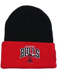 55f894ac986 Mitchell   Ness Beanie Wintermütze Chicago Bulls Team Arch Black red OneSize