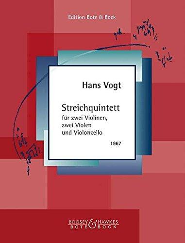 Streichquintett: 2 Violinen, 2 Violen und Violoncello. Partitur und Stimmen.
