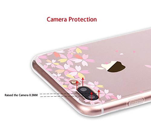 iPhone 7 Cover, MAOOY Moda Flower Animal Frutta Flamingo Modello Design Case per iPhone 7, Flessibile Ultra Sottile Leggero Bumper Copertura di Soft Gomma Sveglio Cristallo Gel Antiurto Protettiva per Hamburger