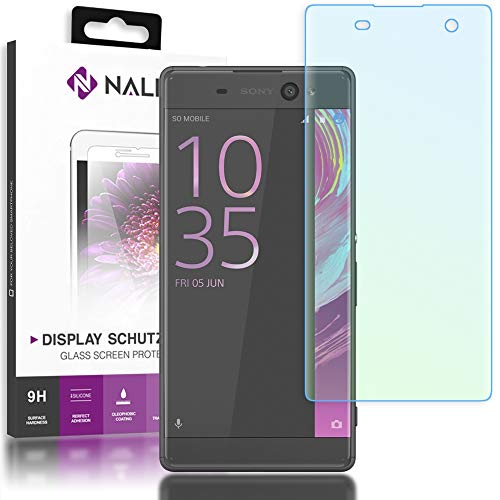 NALIA Schutzglas kompatibel mit Sony Xperia XA, 3D Full-Cover Bildschirmschutz Handy-Folie, 9H Härte Glas-Schutzfolie Display-Abdeckung, Schutz-Film HD Screen Protector Tempered Glass - Transparent