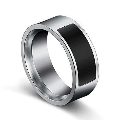 Smart Ring,erthome NFC multifunktionale wasserdichte intelligente Ring Smart Wear Finger Digital Ring (NO.7 (Durchmesser:17.3mm))
