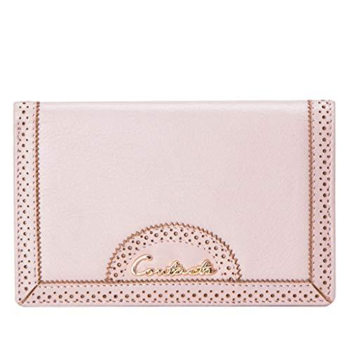 Frauen lange Abschnitt Wallet Card Package Vintage Buckle Leder Clutch (Color : Pink, Size : 15 * 1.5 * 9.5)