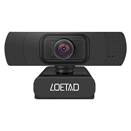 LOETAD Webcam, 1080P Full HD PC Kamera mit Stereo Mikrofon USB für Video Chat Streaming Kompatibel mit Windows Mac OS Android Linus MEHRWEG