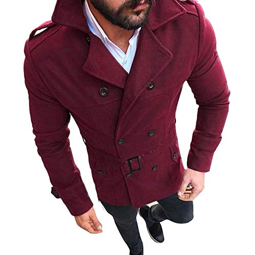 Kanpola Herren Jacke Herbst Winter Slim Fit Langarm Anzug Mantel Trenchcoat Outwear Strickjacke...