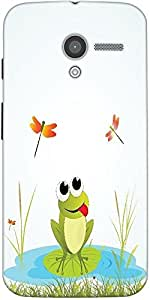 Snoogg Background With Frog Designer Protective Back Case Cover For Motorola ...