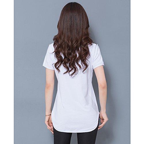 Feixiang Damen T-Shirt Weiß