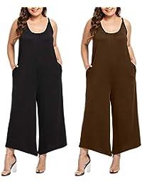 26dc3fad65c5 Tuta Donna Elegante Jumpsuit Donna Tuta Donna Elegante Cerimonia Estate  Pantaloni Donna Sexy Salopette Moda Ragazze Taglie Forti O Neck…