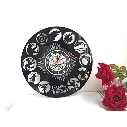 Mddjj Reloj De Pared Juego De Tronos, Vinilo Temático Reloj De Pared Único De Gullei.Com, Saat Reloj Despertador Reloj Sala de Estar Decor