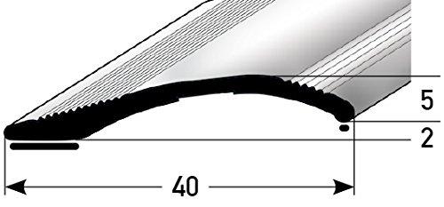 Helle Fliesen (Höhen-Ausgleichsprofil 40mm x 135cm - bronze-hell ✓ 2mm - 16mm ✓ Selbstklebend ✓ Stufenloser Höhenausgleich | Aluminium Anpassungsprofil für Laminat, Teppich, Parkett & Fliesen)