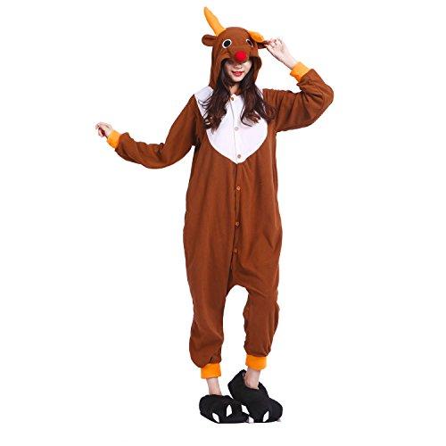 n Schlafanzug Pyjama, Tier Kostüm Pyjamas Onesie Kigurumi (Lustigen Erwachsenen-strampelanzug)