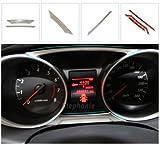 Mitsubishi ASX MATT EDELSTAHL GEBÜRSTET SILBER BLENDEN INNENRAUM SET TACHO DASHBOARD TUNING ZUBEHÖR