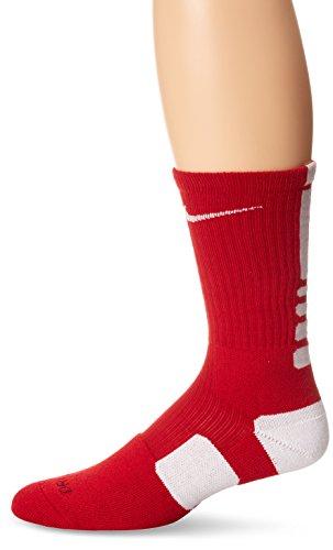 Nike Elite Men's Cushioned Crew Sock Dri-Fit Basketball Size XL (12-15)Red