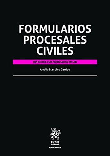 Formularios Procesales Civiles por María Amalia Blandino Garrido