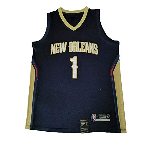 KKSY Basketball Trikot Herren Duke Blue Devils Zion Williamson # 1 Schwarz Vintage Fitness Weste Sport Top,XXL