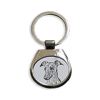 ArtDog Ltd. Whippet, Schlüsselringe mit reinrassigen Hunden, einzigartiges Geschenk, Sublimation