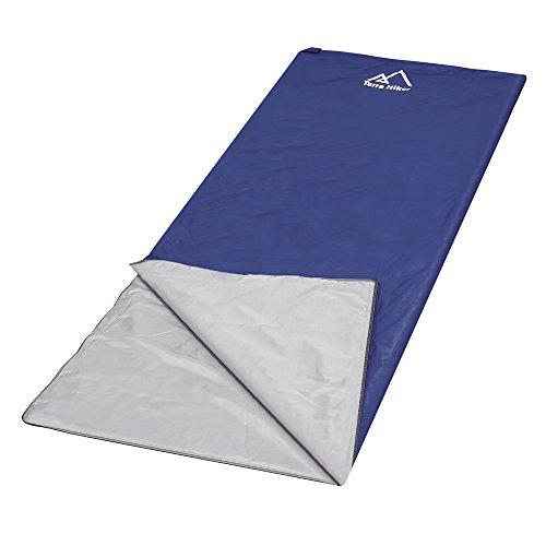Terra Hiker Version Actualisée, Sac de Couchage Envelope Ultraléger et Compact 3 Saisons Parfait pour Printemps Eté Automne Deuxième Génération 195 x 85 cm, 890g (Bleu Foncé)