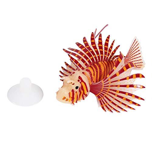 Qiterr falso pesce, acquario artificiale acquario serbatoio decorazione del paesaggio glow simulazione ornamenti animali (rosso)