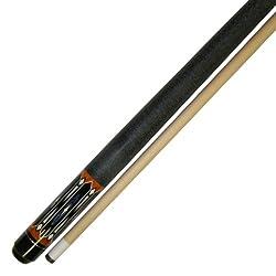 Iszy Billiards 58-Inch Hardwood Canadian Maple Pool Cue Billiard Stick with Irish Wrap (2-Piece), Black, 19-Ounce