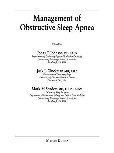 Obstructive Sleep Apnoea por Jonas T. Johnson