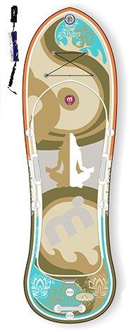 Mistral Lotus 10'0 Yoga/Fitness-Line Standup Paddel Board aufblasbar inkl. SUPwave.de Coil-Leash, Stand up Paddle Board iSUP