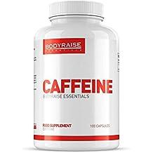 Bodyraise Suplemento de Cafeína - Aumenta la Concentración Mental, los Niveles de Energía, la