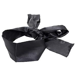 HEALIFTY Satin Augenbinde Maske weichen bequemen Augenmaske Band Blinder für Home Travel Kostüm Requisiten (schwarz)