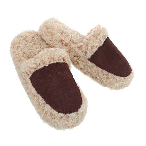 Pantofole Pantofole Da Donna Scarpe Da Donna Mens Ital Design Scarpe Casual Marrone Scuro