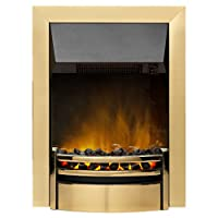 Dimplex 037091 KNS20BR Kansas Electric Inset Fire with Optiflame Effect, 2 kW, 230 W, Brass