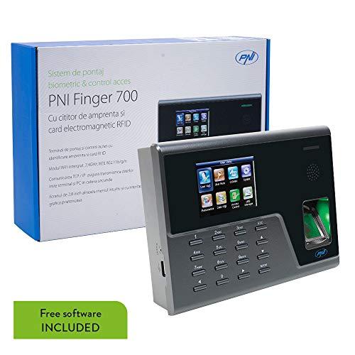 Biometrische Uhr und Zugangskontrolle PNI Finger 700 mit Fingerabdruckleser und Karte, kostenlose Software inklusive