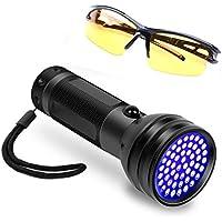 Xelparuc®51 LED UV Negro luz Linterna, Linterna Ultravioleta para detección de orina para Mascota Gato Perro orina