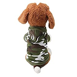 Chihuahuas Animal Hoodies Back Sport 1Thin Dog Cat Costume Cosplay Camouflage Clothing Jacket Coat Dog Jacket Dog Clothes for Poodles, Yorkshire Terrier, Schnauzer