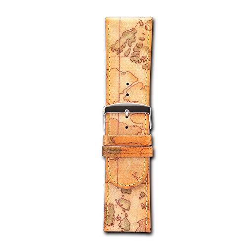 Braun 20mm 30mm echt Leder Armbanduhr Watch Band Classic gemustert Canvas Leder Tragegurt - Band Uhr Canvas Leder