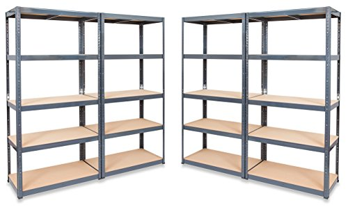 4-x-storalexr-450mm-deep-garage-racking-shelving-units-265kg-shelf-udl-free-mallet