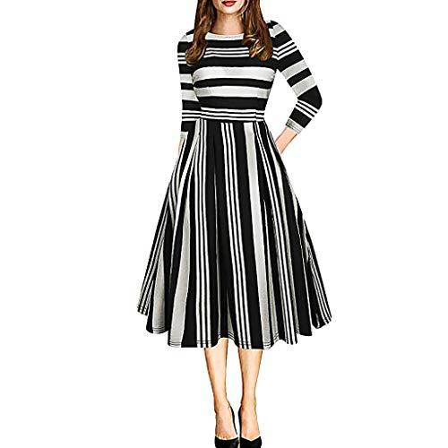 tage Tutu Kleider der 1950er Jahre Dot gedruckt Patchwork Midi Kleider mit Taschen Puffy Swing Casual Party Kleider ()