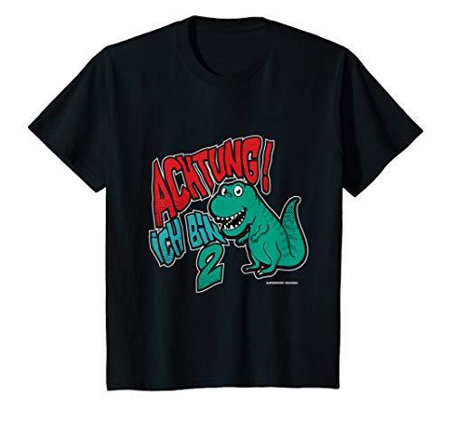 2 Dino Kinder Kostüm - Kinder Kinder Dino 2. Geburtstag T-Shirt Jungen Mädchen 2 Jahre Bau