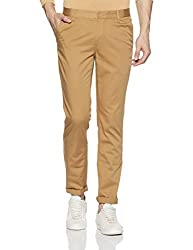 John Players Mens Casual Trousers (8907482018283_JCMWTRF017036_30W x 36L_Beige)