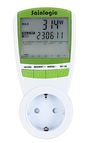 Misuratore di alimentazione sainlogic, ampio display LCD, Plasma stromzaehler elektrizitaets di monitor analizzatore di Watt di potenza Tensione Corrente elektrizitaets con TOC).