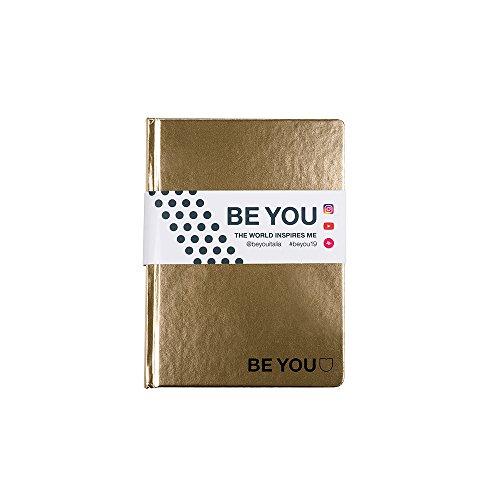 Be-U Color Diario Agenda, Formato Standard, Collezione 2019, Oro