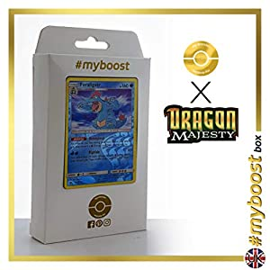 Feraligatr 24/70 Holo Reverse - #myboost X Sun & Moon 7.5 Dragon Majesty - Box de 10 cartas Pokémon Inglesas