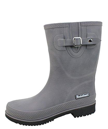 BOCKSTIEGEL® JETTE - Standard/K/KB Stivali di gomma corto per la Donna | Fibbia laterale alla moda | Logo del marchio | Produzione europea | Confortevole KB grey / black