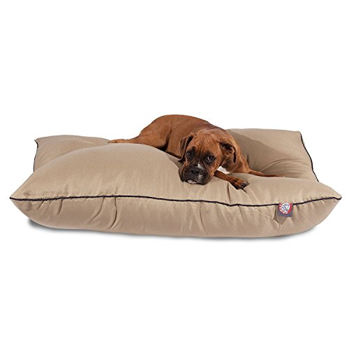 Majestic Pet Großes, hochwertiges Hundebett, 88,90 x 116,84 cm, khakifarben, Pet Products -