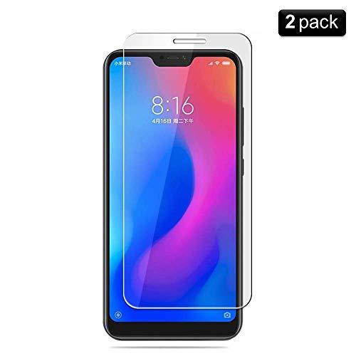 PaceBid [2 Pack] Vetro Temperato Xiaomi Mi A2 Lite, [Anti-Graffi] [9H Durezza] [Anti-Impronta] Pellicola Protettiva per Xiaomi Mi A2 Lite