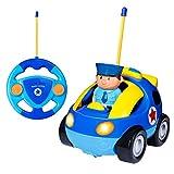 Tonor RC Ferngesteuertes Spielzeugauto Polizeiauto mit Fernbedienung für Kinder Kindergeschenk (Fahrer wird zufällig geliefert)