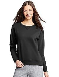 Hanes ComfortSoft EcoSmart Women's Crewneck Sweatshirt_Ebony_2XL