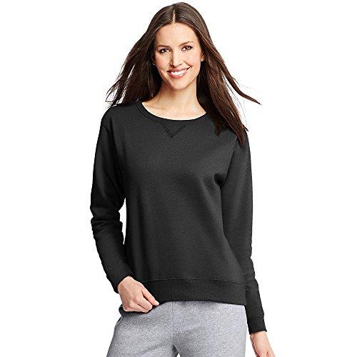 Hanes ComfortSoft EcoSmart Women's Crewneck Sweatshirt_Ebony_M