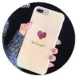 Coque de Protection pour iPhone 66S 78Plus X Mode Mignon Cœur BE Loved Lettre...