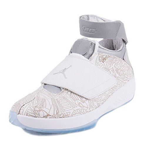 Nike Herren Air Jordan XX Laser Handballschuhe, Blanco/Plateado (White/Metallic Silver-White), 45 1/2 EU